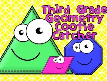 Third Grade Geometry Terms Cootie Catcher