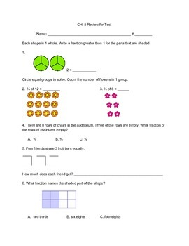 Third Grade - Go Math - Ch. 8 Review for Chapter Test by ...