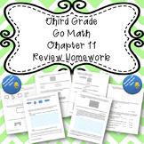 Third Grade Go Math Chapter 11 Review Homework