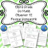 Third Grade Go Math Chapter 12 Review Homework
