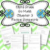 Third Grade Go Math Chapter 3 Review Homework