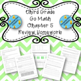 Third Grade Go Math Chapter 5 Review Homework