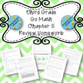 Third Grade Go Math Chapter 5 Review Homework