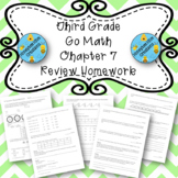 Third Grade Go Math Chapter 7 Review Homework