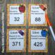Third Grade Math Unit One Task Cards Center Games and Colo