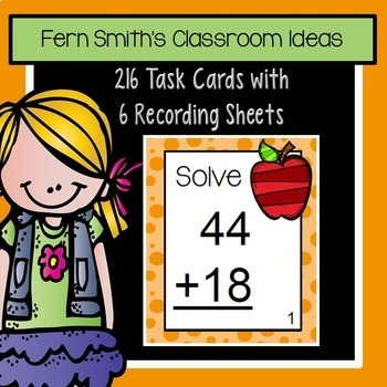Third Grade Math Unit One Task Cards Center Games and Color By Numbers Bundle