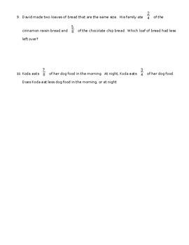 Third Grade Go Math! Units 8-9 Fraction Review