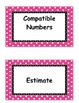 Third Grade Go Math, Common Core Aligned, Vocabulary Word Cards and Definitions
