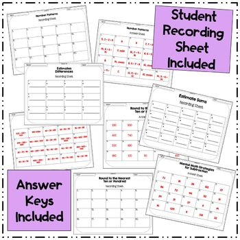 Third Grade Chapter 1 Task Cards/Scoot (CCSS)