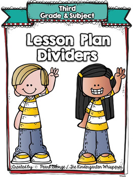 (Third Grade) Grade and Subject Lesson Plan Dividers