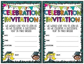 Third Grade Graduation Certificates & Third Grade Invitations