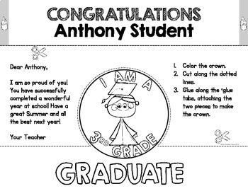 Third Grade Graduation Crowns