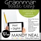Print + Digital Third Grade Grammar Activities (Commas in