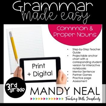 Third Grade Grammar Activities (Common and Proper Nouns)