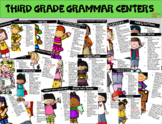 Third Grade Grammar Centers BUNDLE