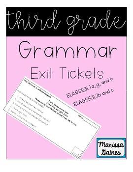 Third Grade Grammar Exit Tickets
