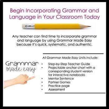 Third Grade Grammar Made Easy Growing Bundle