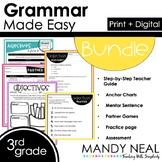 Print + Digital Third Grade Grammar Activities Bundle