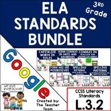 Third Grade Grammar Skills ELA Practice Bundle for CCSS L.3.2 for Google Drive