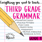 DISTANCE LEARNING Third Grade Grammar and Language Bundle