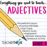 Third Grade Grammar and Language Unit on Adjectives