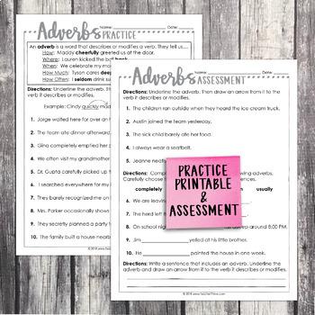 Third Grade Grammar and Language Unit on Adverbs
