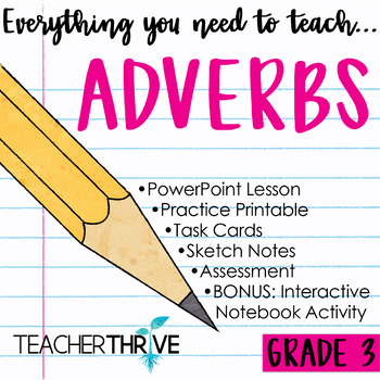 Third Grade Grammar and Language Unit on Adverbs