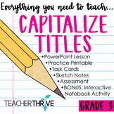 Third Grade Grammar and Language Unit on Capitalizing Titles