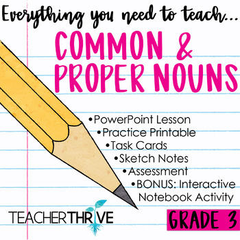 Third Grade Grammar and Language Unit on Common and Proper Nouns