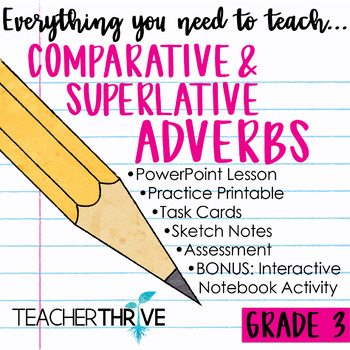Comparative And Superlative Adverbs Activities Teaching Resources