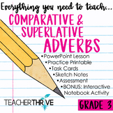 Third Grade Grammar and Language Unit on Comparative and Superlative Adverbs