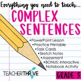 Third Grade Grammar and Language Unit on Complex Sentences