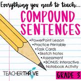 Third Grade Grammar and Language Unit on Compound Sentences