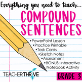 Third Grade Grammar and Language Unit on Compound Sentences