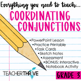 Third Grade Grammar and Language Unit on Coordinating Conjunctions