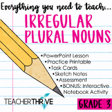 Third Grade Grammar and Language Unit on Irregular Plural Nouns