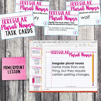 Third Grade Grammar and Language Unit on Irregular Plural Nouns