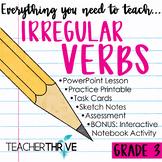 DISTANCE LEARNING Third Grade Grammar and Language Unit on Irregular Verbs