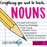 Third Grade Grammar and Language Unit on Nouns