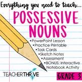 Third Grade Grammar and Language Unit on Possessive Nouns