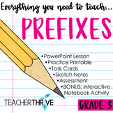 Third Grade Grammar and Language Unit on Prefixes