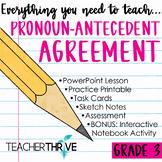 Third Grade Grammar and Language Unit on Pronoun-Anteceden