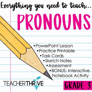 Third Grade Grammar and Language Unit on Pronouns