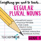 Third Grade Grammar and Language Unit on Regular Plural Nouns