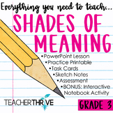 Third Grade Grammar and Language Unit on Shades of Meaning