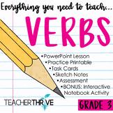Third Grade Grammar and Language Unit on Verbs