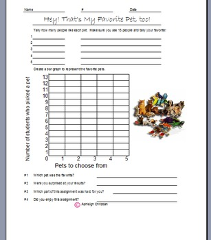 Third Grade Graphs with Tally Chart
