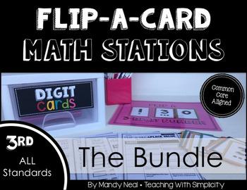 Third Grade Flip-A-Card Math Stations