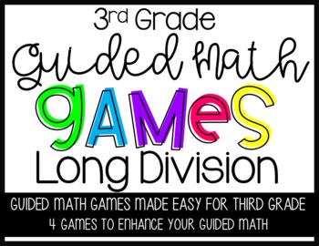 Third Grade Guided Math Long Division GAMES