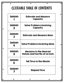 Third Grade Guided Math ~ Measurement
